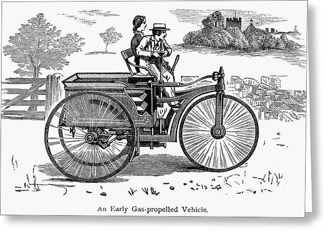 American Automobiles Greeting Cards - Early Automobile Greeting Card by Granger