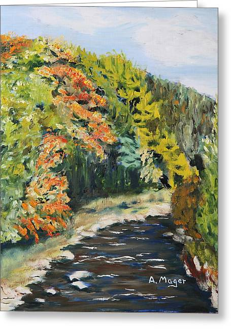 Babbling Paintings Greeting Cards - Early Autumn Greeting Card by Alan Mager