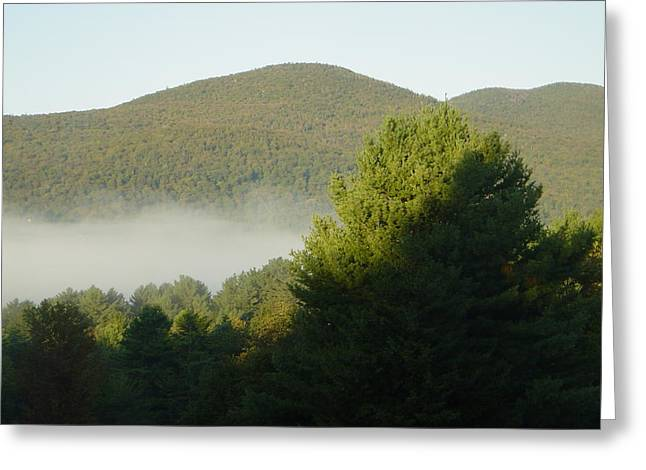 Early Pyrography Greeting Cards - Early Autumn in Vermont Greeting Card by Margrit Schlatter