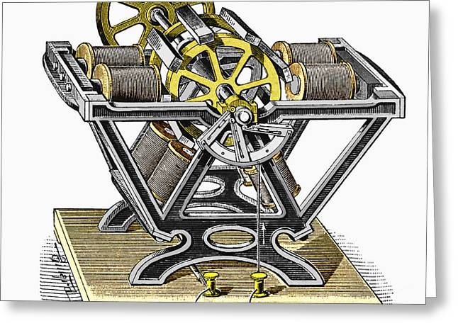 Solenoid Greeting Cards - Early Electric Motor, 1834 Greeting Card by Sheila Terry