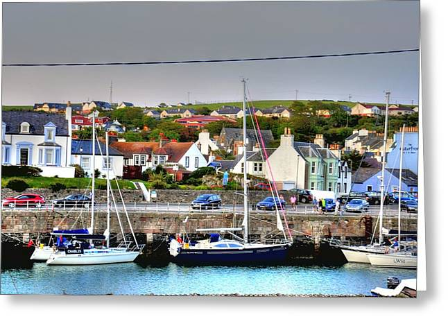 Village By The Sea Greeting Cards - Early Evening Greeting Card by Barry R Jones Jr