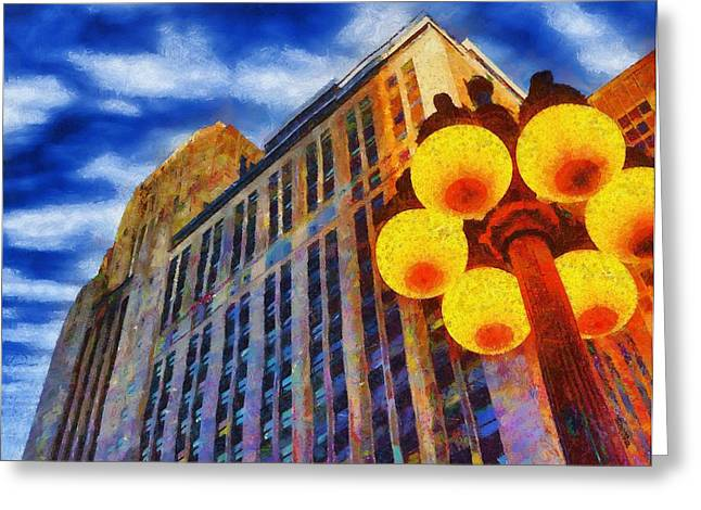 Early Evening Lights Greeting Card by Jeff Kolker