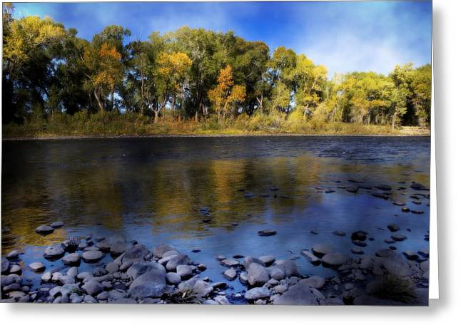 Stream Digital Art Greeting Cards - Early Fall at the Headwaters of the Rio Grande Greeting Card by Ellen Heaverlo