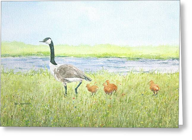 Mother Goose Paintings Greeting Cards - Early Instruction Greeting Card by Ken Marsden