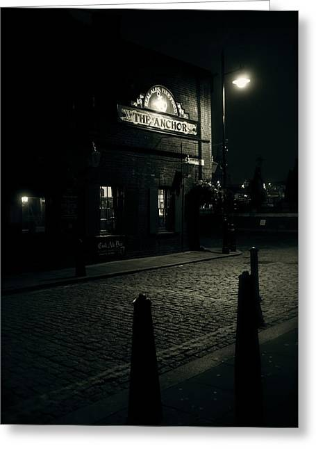Hinde Street Greeting Cards - Early Morning Ale Greeting Card by Jez C Self