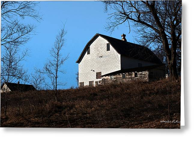 Barn Yard Greeting Cards - Early Morning Barn Greeting Card by Edward Peterson