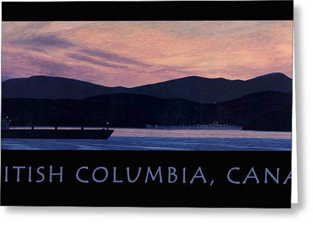 Blue And Purple Sea Greeting Cards - Early Morning B.C. Poster Greeting Card by Neil Woodward