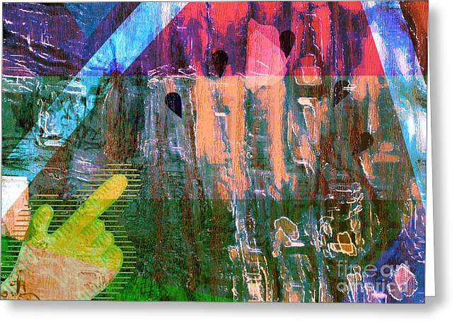 Liberation Mixed Media Greeting Cards - Early Morning Choir Greeting Card by Fania Simon
