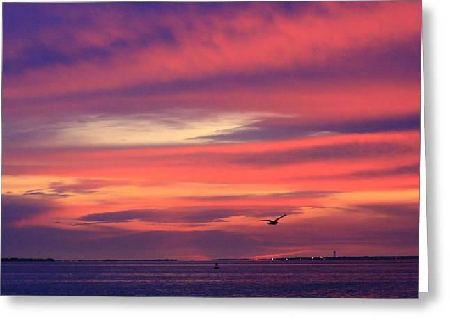 Long Island Photographs Greeting Cards - Early Morning Cloudy Inlet Greeting Card by Christopher Kirby