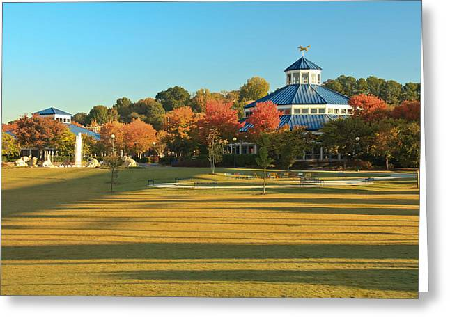 Coolidge Park Greeting Cards - Early Morning Coolidge Park Greeting Card by Tom and Pat Cory
