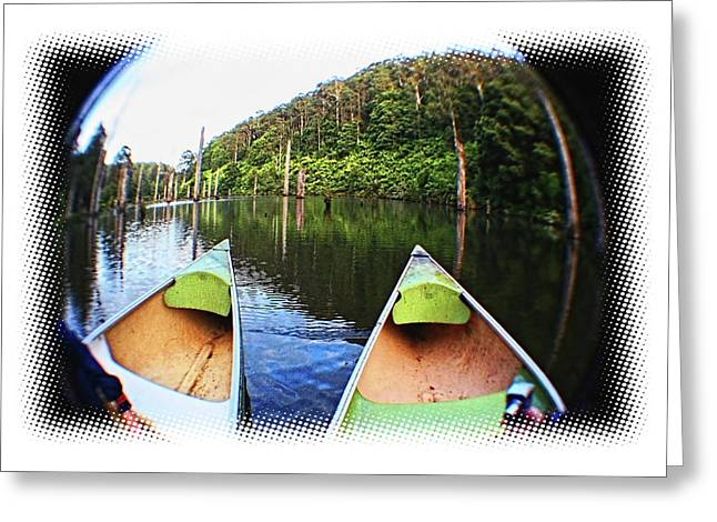 Canoe Greeting Cards - Early Morning Greeting Card by Douglas Barnard