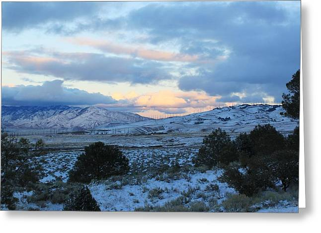 Winter Digital Photo Scene Greeting Cards - Early Morning Dusting Greeting Card by Jeff Kemper