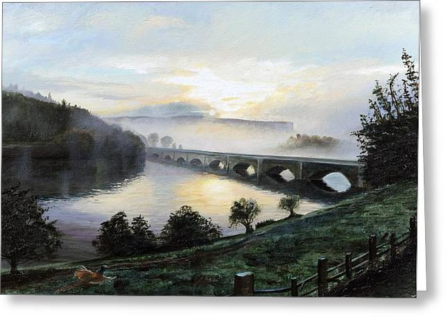 Early Morning Sun Greeting Cards - Early Morning Mist Greeting Card by Trevor Neal