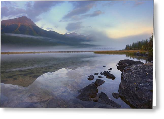 Attract Greeting Cards - Early Morning On The Sunwapta River Greeting Card by Dan Jurak