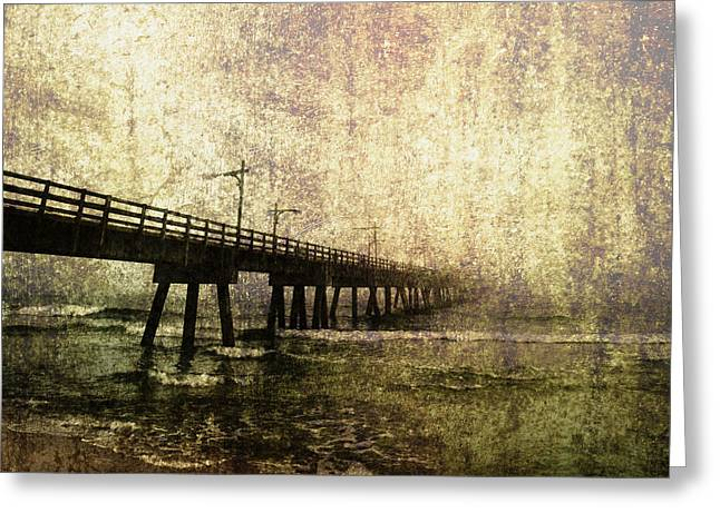 Early Morning Pier Greeting Card by Skip Nall