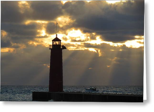 Early Morning Rays Greeting Card by Kay Novy