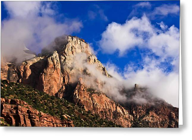 Cory Greeting Cards - Early Morning Zion National Park Greeting Card by Tom and Pat Cory