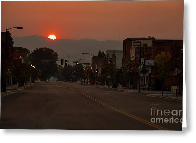 Emmett Valley Greeting Cards - Early Greeting Card by Robert Bales