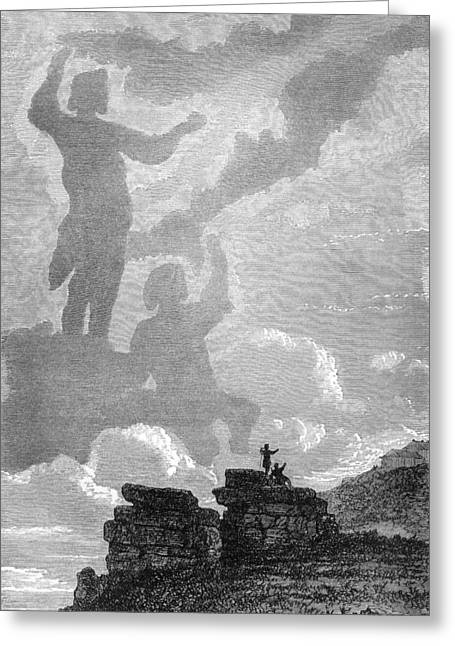 Brocken Greeting Cards - Early Sighting Of Brocken Spectres, 1797 Greeting Card by