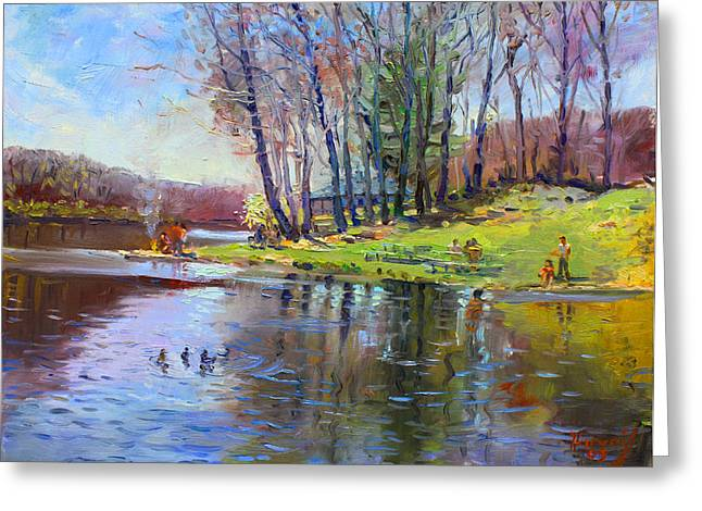 Landsape Greeting Cards - Early Spring in Bear mountain Greeting Card by Ylli Haruni