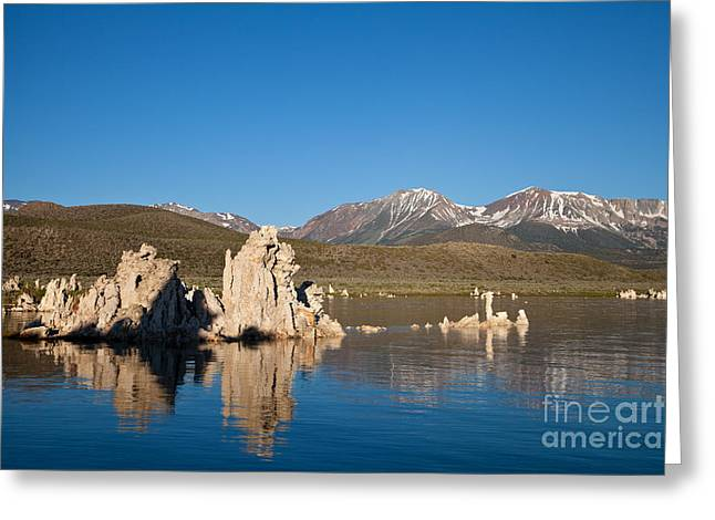 Alkaline Greeting Cards - Early summer morning on Mono Lake Greeting Card by Olivier Steiner