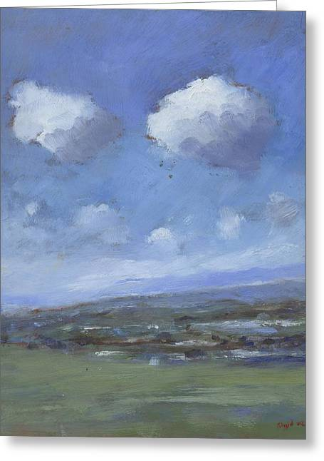 Infinite Distance Greeting Cards - Early Summer near Brading Down Greeting Card by Alan Daysh