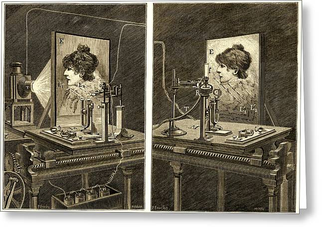 Generators Greeting Cards - Early Television System, 19th Century Greeting Card by Sheila Terry