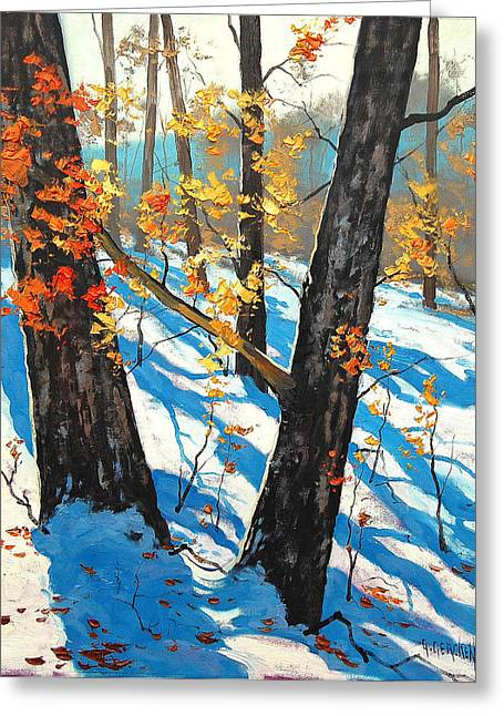 Fall Trees Greeting Cards - Early Winter Greeting Card by Graham Gercken