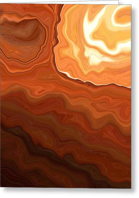 Earth Tone Digital Art Greeting Cards - Earth Abstract2 Greeting Card by Linnea Tober