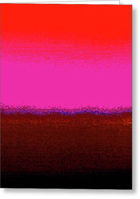 Earth And Sky Kiss Greeting Card by James Mancini Heath