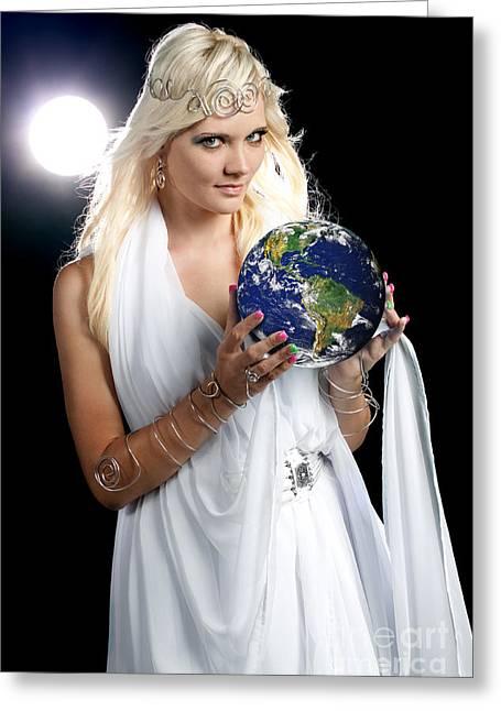 Eye Of Heaven Greeting Cards - Earth Angel Greeting Card by Cindy Singleton