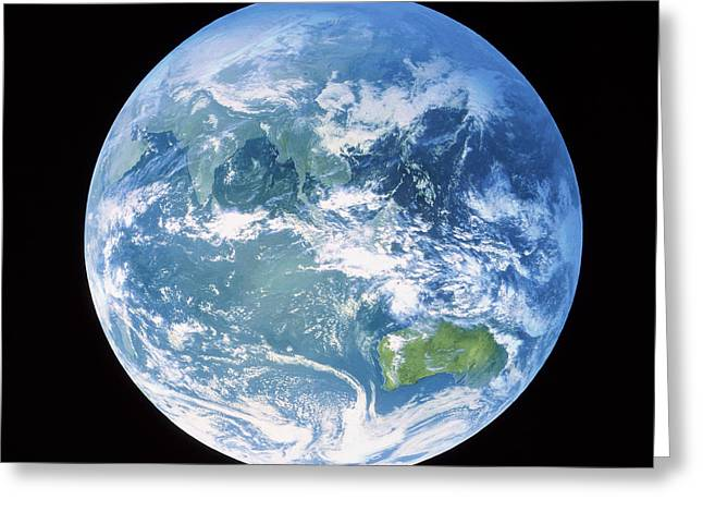 Australasia Greeting Cards - Earth Centred On Australasia Greeting Card by Nasagoddard Space Flight Centre