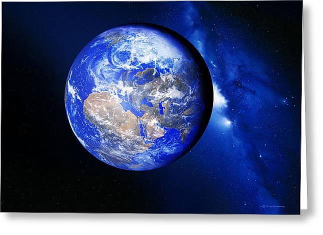 Way Home Greeting Cards - Earth Greeting Card by Detlev Van Ravenswaay