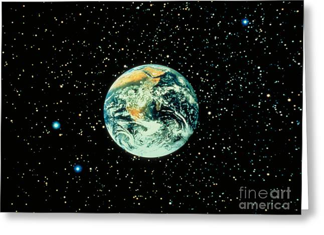 Celestial Bodies Greeting Cards - Earth From Apollo 17 Greeting Card by Nasa