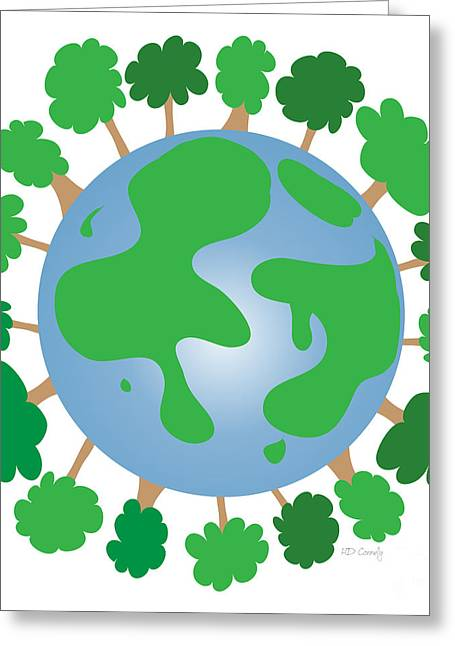 Planet Earth Greeting Cards - Earth Greeting Card by HD Connelly