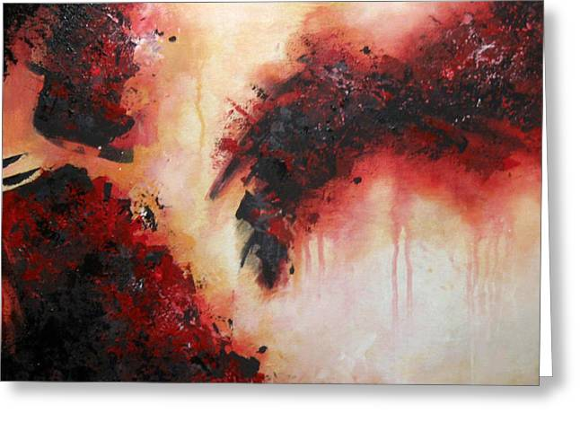 Original Paining Greeting Cards - Earth in Pain Greeting Card by Andrea Banjac