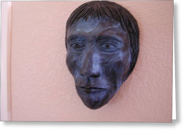 Relic Sculptures Greeting Cards - Earth Warrior Greeting Card by Milton Tarver