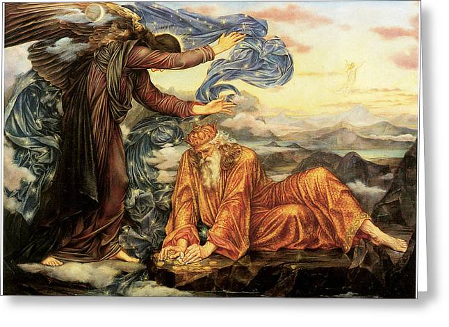 Evelyn De Greeting Cards - Earthbound Greeting Card by Evelyn De Morgan