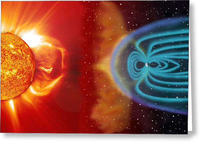 Earth's Magnetosphere, Artwork Greeting Card by Steele Hillnasa