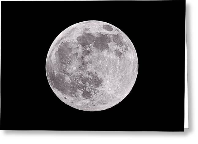 Composite Greeting Cards - Earths Moon Greeting Card by Steve Gadomski