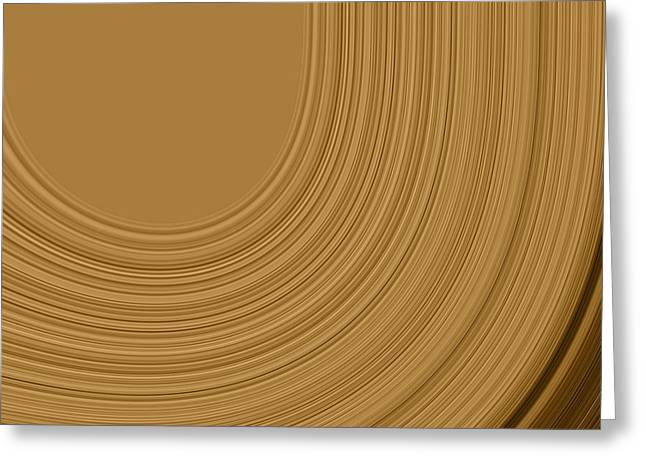 Brown Toned Art Greeting Cards - Earthy Swirls Greeting Card by Bonnie Bruno