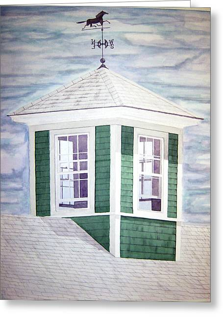East Boothbay Cupola Greeting Card by Daryl Shaw
