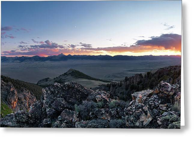 Altitude Greeting Cards - East Central Idaho Sunset Greeting Card by Leland D Howard