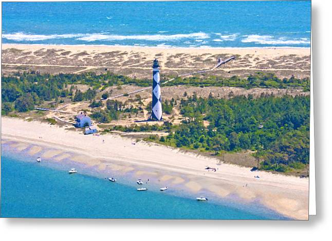 Cape Lookout Greeting Cards - East Coast Lighthouse Greeting Card by Betsy C  Knapp