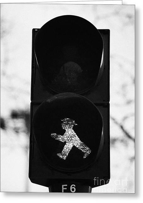 East German Ampelmannchen Go Walking Traffic Light Man Berlin Germany Greeting Card by Joe Fox