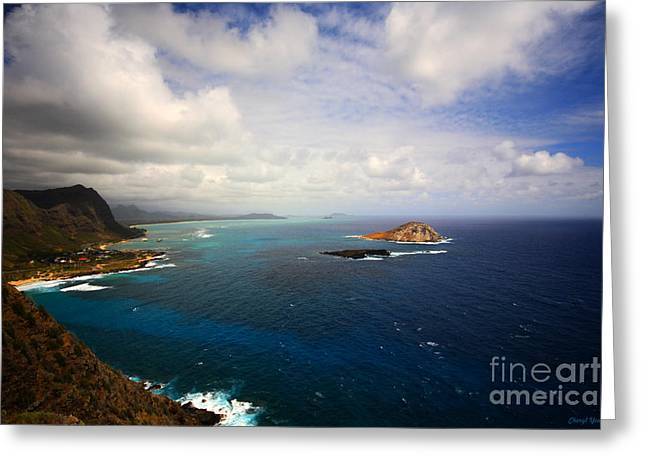 East Oahu Coastline Greeting Card by Cheryl Young