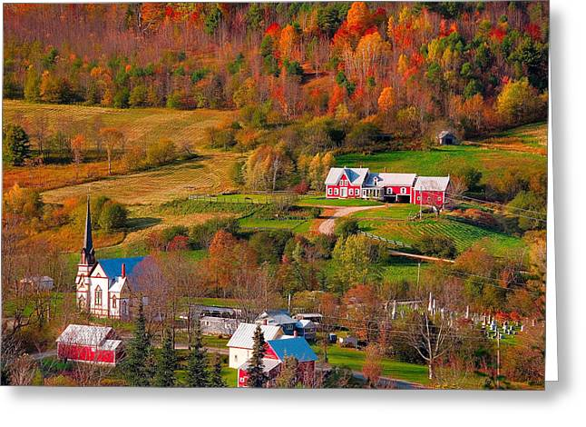 New England Village Greeting Cards - East Orange Village Greeting Card by Andy Richards