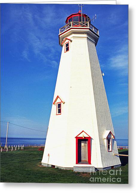 Lightstations Greeting Cards - East Point Lightstation PEI Greeting Card by Thomas R Fletcher