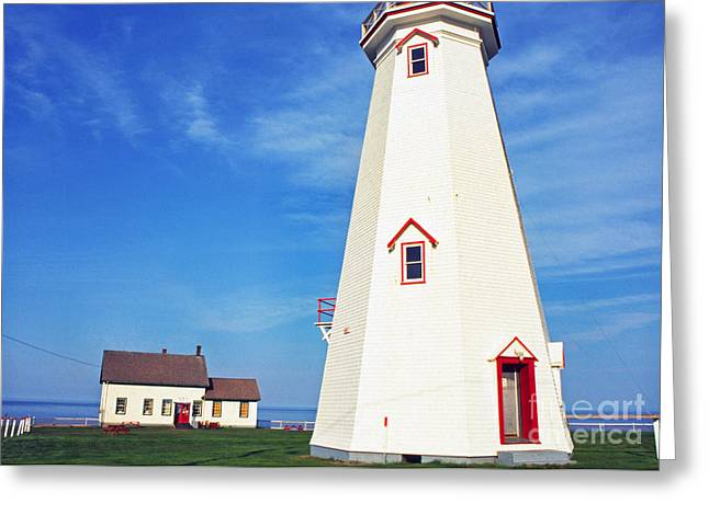 Lightstations Greeting Cards - East Point Lightstation Greeting Card by Thomas R Fletcher