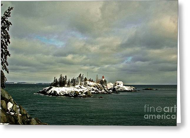 East Quoddy Lighthouse Greeting Cards - East Quoddy Lighthouse Greeting Card by Alana Ranney